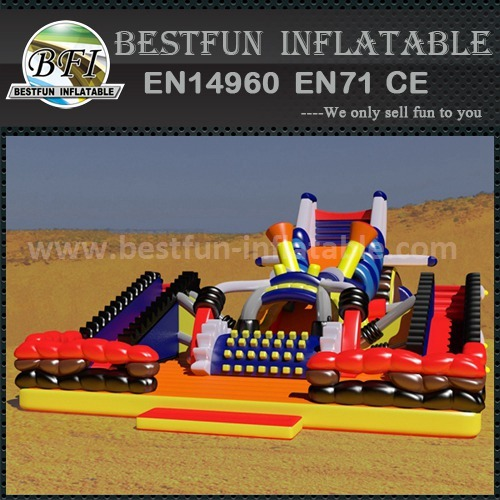 Inflatable slide fun city