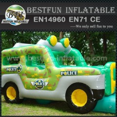 Car shape inflatable slide