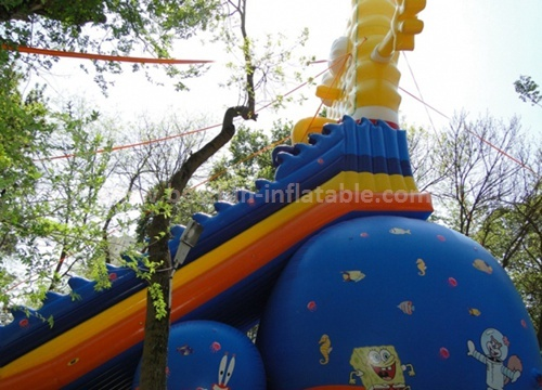 Cartoon inflatable bouncing slide