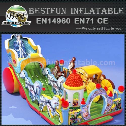 Children amusing inflatable slide