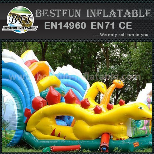 Amazing dragon inflatable dry slide