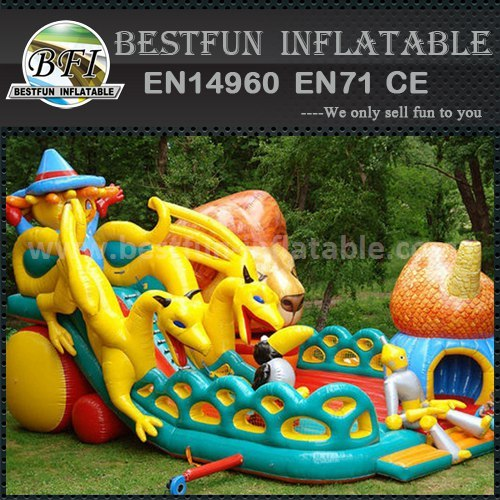 Kids jumping slide inflatable