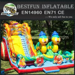 Children inflatable obstacle slide