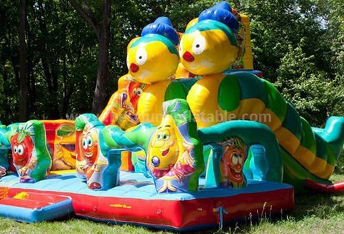 Children game inflatable slide