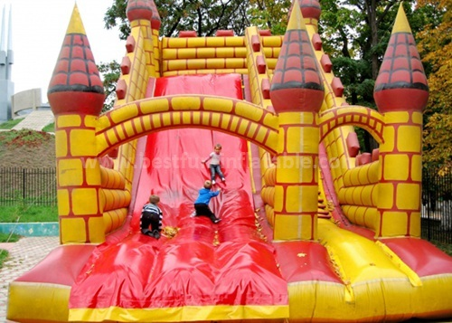 Church event inflatable slide