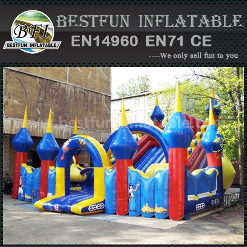 Inflatable bounce house slide park