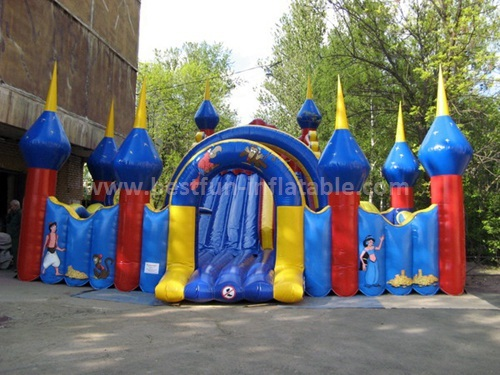 Circus time inflatable slide