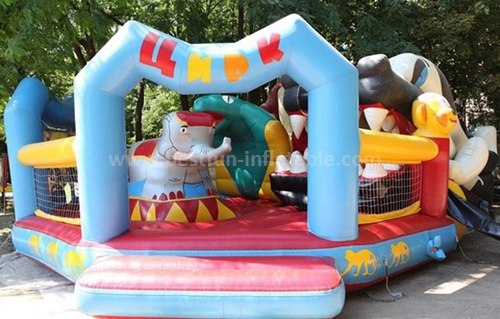 Clown design circus inflatable slide