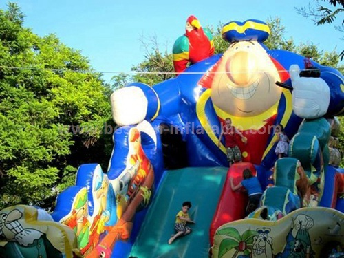 Colored inflatable slides for sale