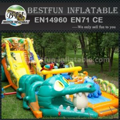 Commercial dragon inflatable dry slide