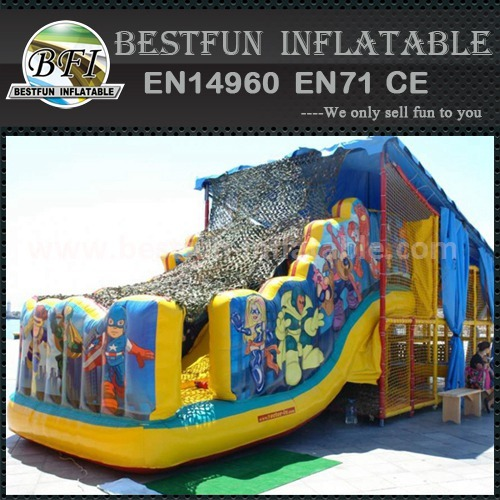 Mini inflatable tunnel with slide