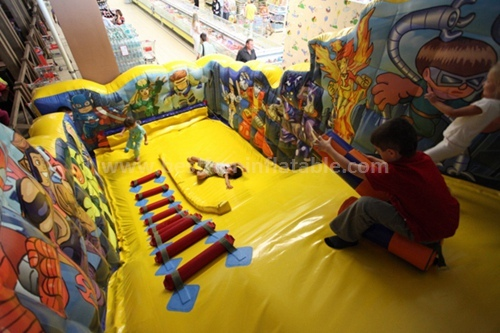 Commercial inflatable bounce slide