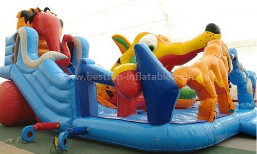 Commercial inflatable climbing slide