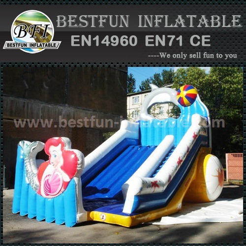 Blue ocean inflatable slide