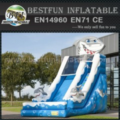 Small shark indoor inflatable slide