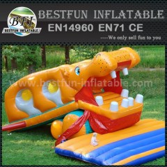 Cute inflatable games slide