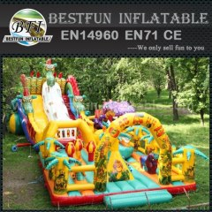 Dinosaur shape inflatable slides