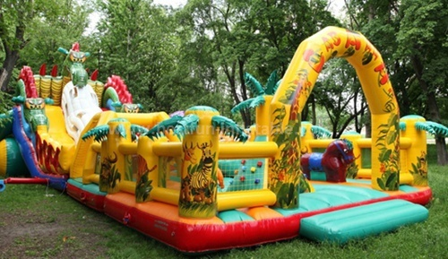 Custom slip & slide inflatable
