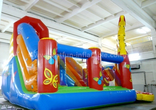 Dazzle color inflatable slide