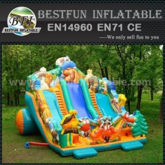Dinosaur inflatable outdoor slide
