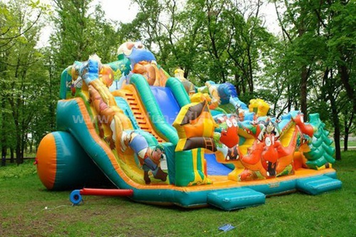 Designer line 3-lane inflatable slide