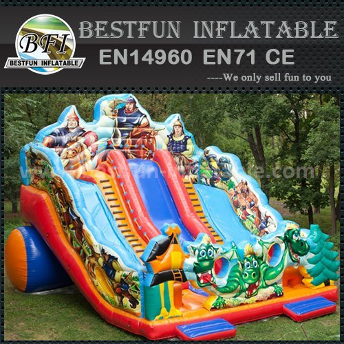 Giant commercial inflatable slide