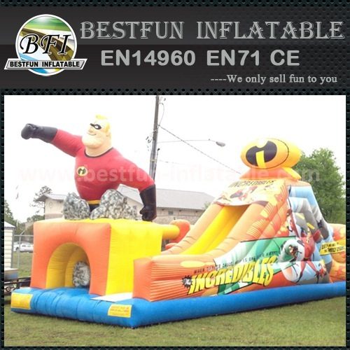 Inflatable max and merits slide