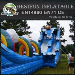 Durable inflatable forest party slides