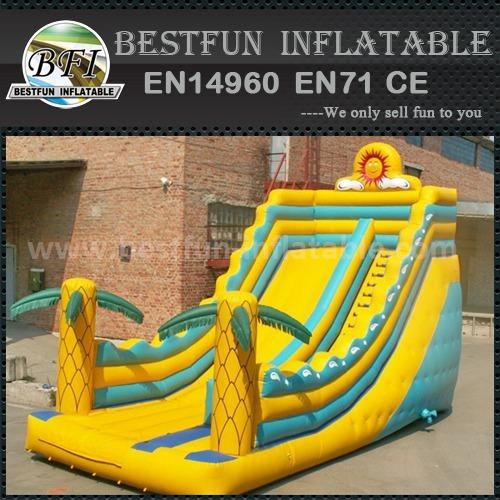 Family inflatable bouncer slide