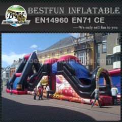Inflatable air jump and slide