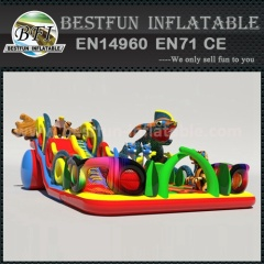 Giant colorful adult inflatable slide