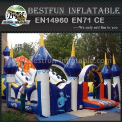 Garden inflatable bouncer slide