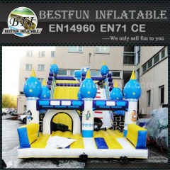 Funny totem inflatable slide