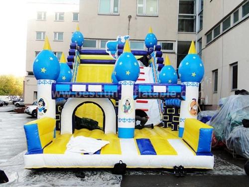 Funny totem inflatable slide