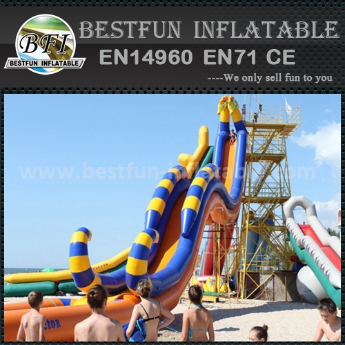 Inflatable slide sandy beach style
