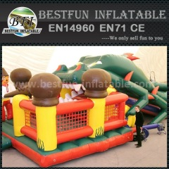 Fish shape inflatable slide
