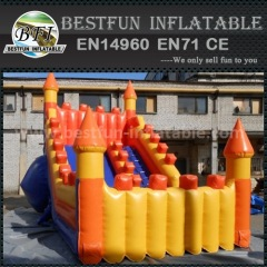 Hot inflatable curve slide