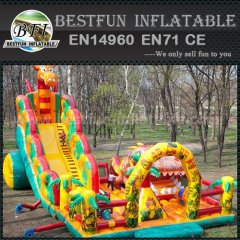 Amusement park inflatable slide big