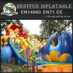 Durable inflatable double slide