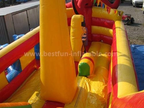 Huge inflatable octopus slide