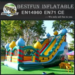 Inflatable balloon bounce slide