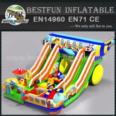 Inflatable funny zone park with slides