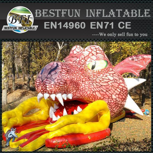 Inflatable dragon slide toys