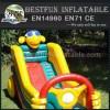 Inflatable animal themed slide for kids