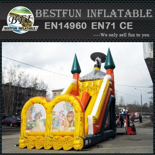 Colorful inflatable slide bouncer