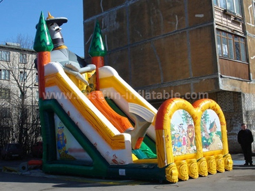 Inflatable bounce slide egypt style