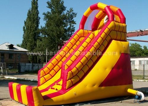 Inflatable bouncer castle slide