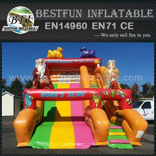 Inflatable exciting dry slide