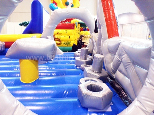 Inflatable cartoon characters slide
