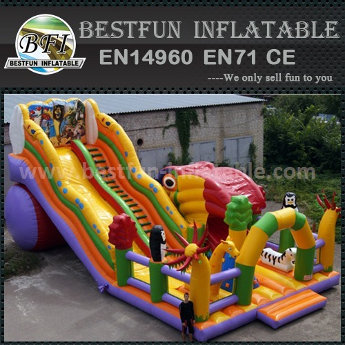 Inflatable cartoons bouncy slide